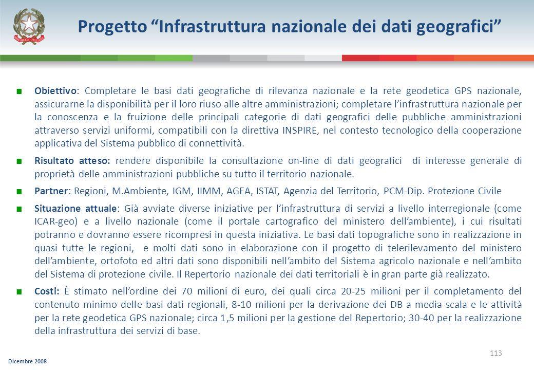 Progetto Infrastruttura nazionale dei dati geografici