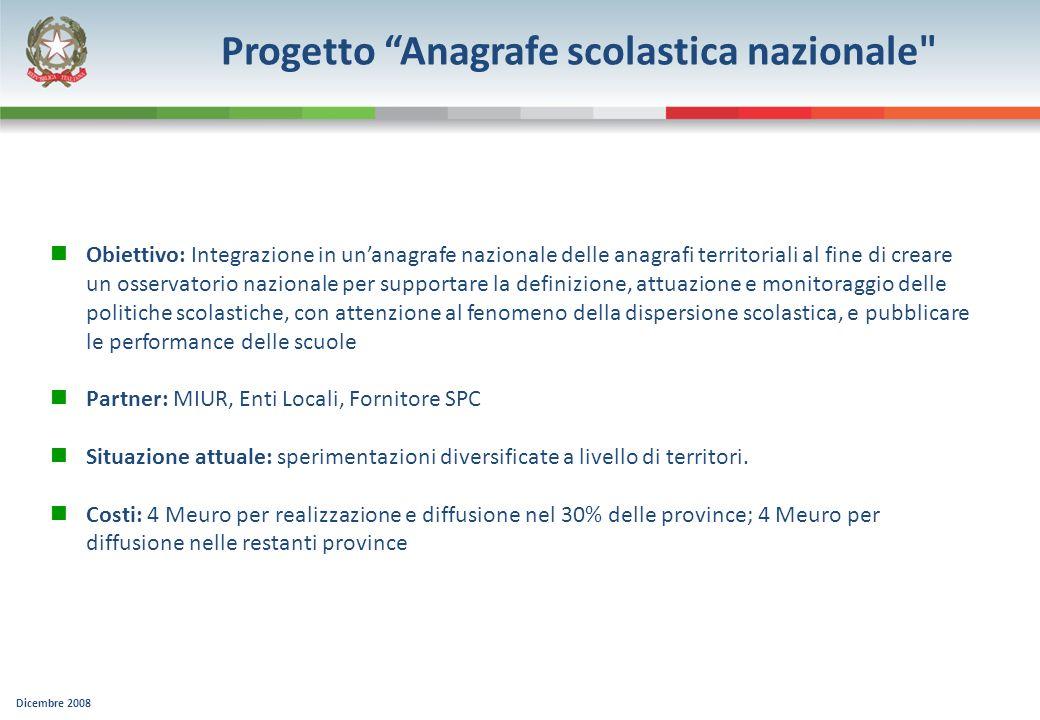 Progetto Anagrafe scolastica nazionale