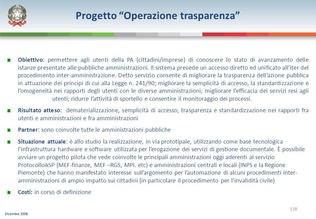 Progetto Operazione trasparenza