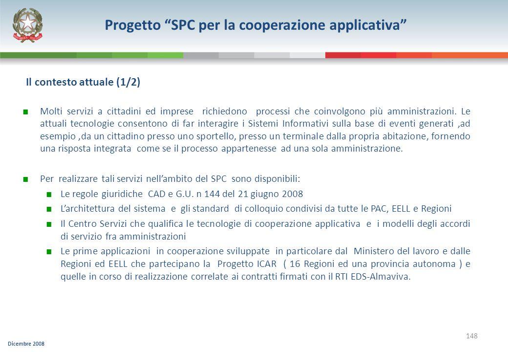 Progetto SPC per la cooperazione applicativa