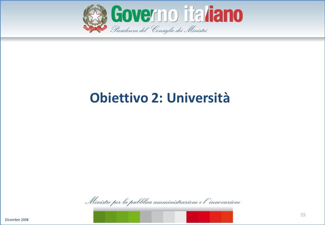 Obiettivo 2: Università