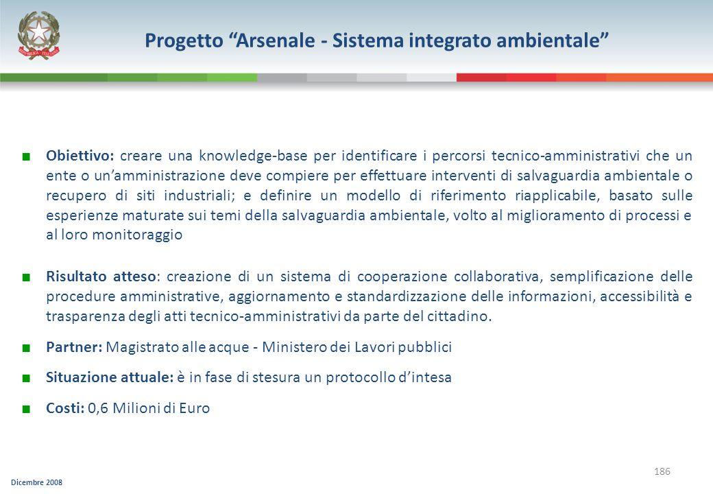 Progetto Arsenale - Sistema integrato ambientale