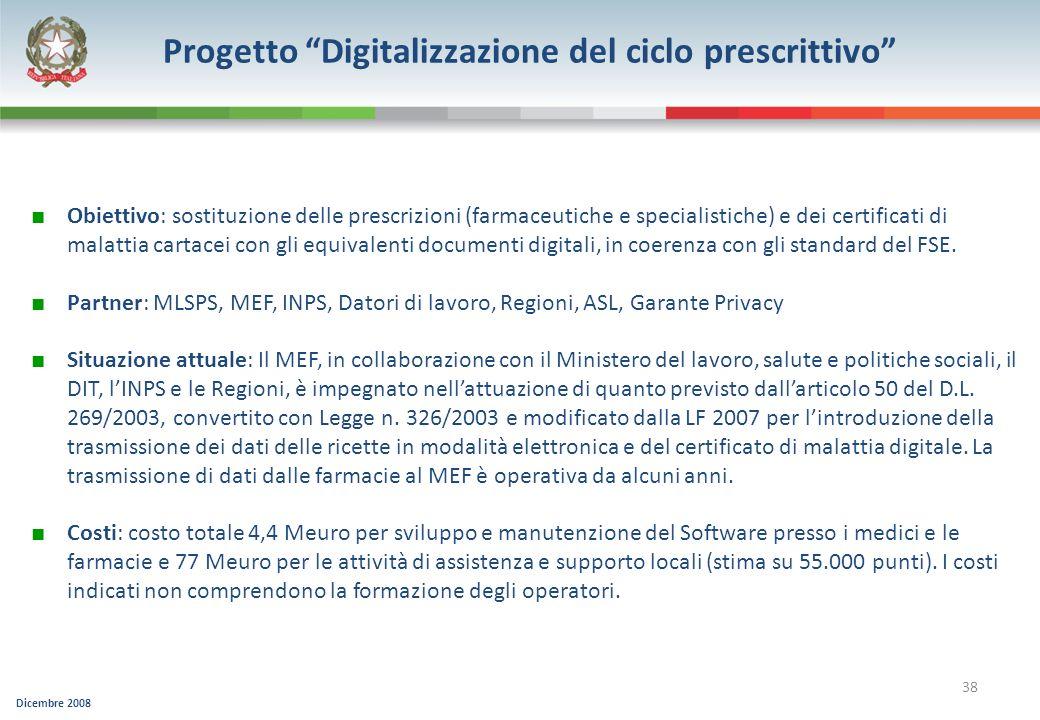 Progetto Digitalizzazione del ciclo prescrittivo