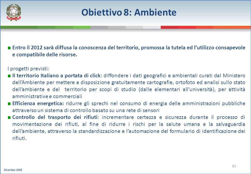 Obiettivo 8: Ambiente