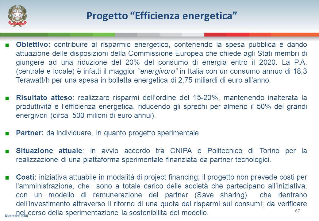 Progetto Efficienza energetica