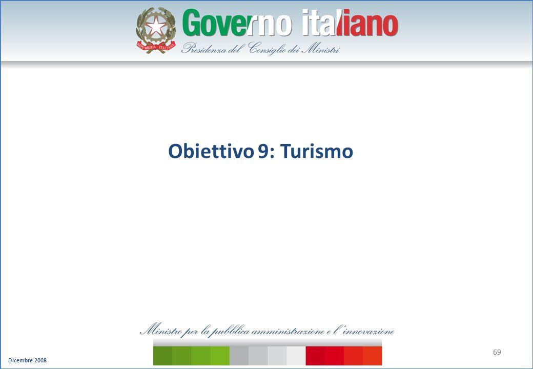 Obiettivo 9: Turismo 69