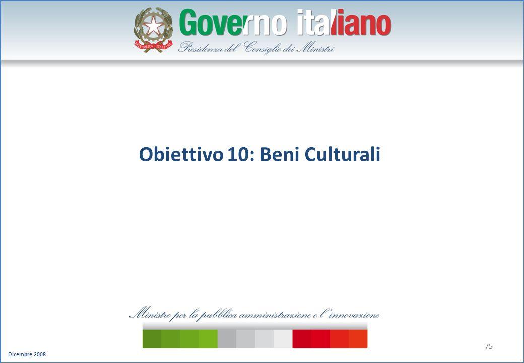 Obiettivo 10: Beni Culturali