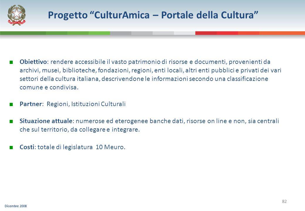 Progetto CulturAmica – Portale della Cultura