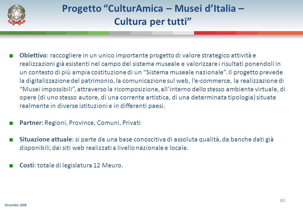 Progetto CulturAmica – Musei d'Italia –