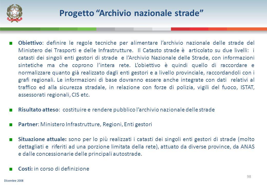 Progetto Archivio nazionale strade