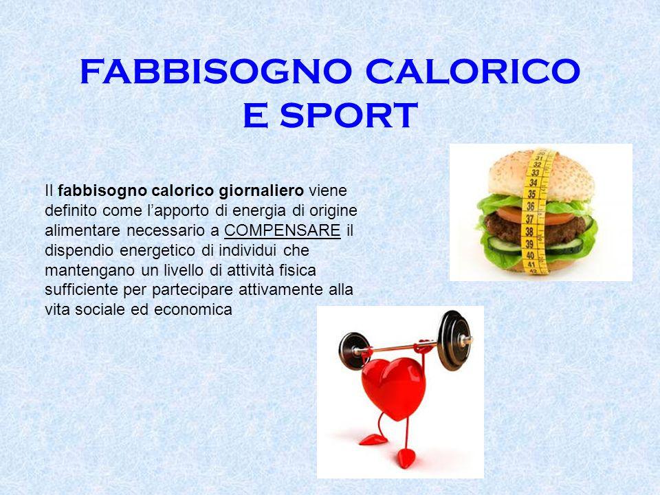 FABBISOGNO CALORICO E SPORT