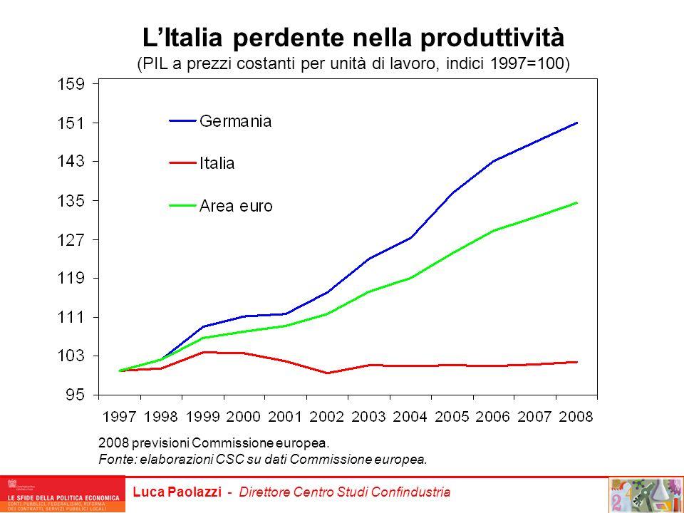 L'Italia perdente nella produttività