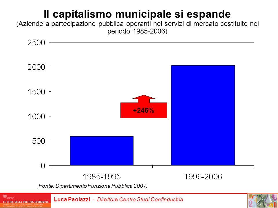 Il capitalismo municipale si espande
