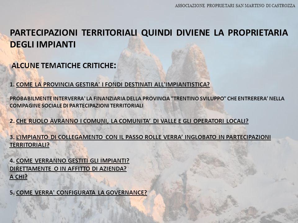ASSOCIAZIONE PROPRIETARI SAN MARTINO DI CASTROZZA