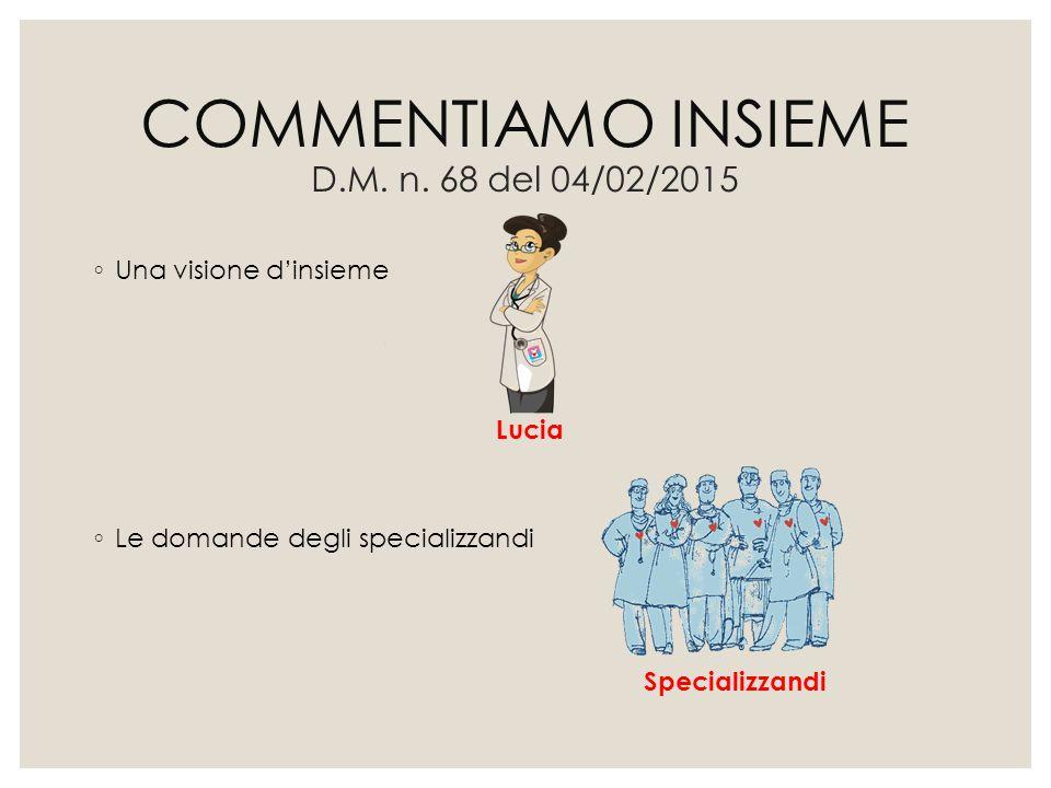 COMMENTIAMO INSIEME D.M. n. 68 del 04/02/2015