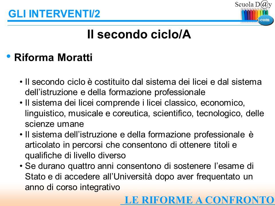 Il secondo ciclo/A GLI INTERVENTI/2 Riforma Moratti