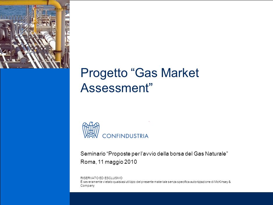 Progetto Gas Market Assessment
