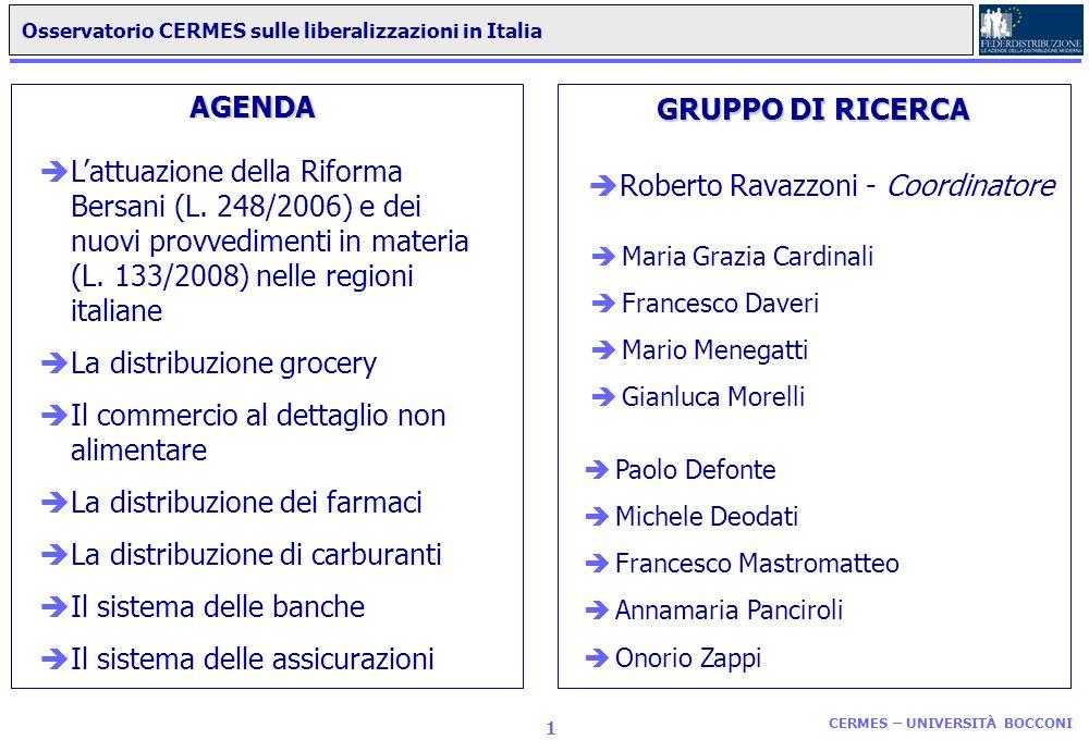 Osservatorio CERMES sulle liberalizzazioni in Italia