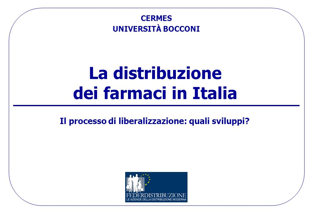 La distribuzione dei farmaci in Italia
