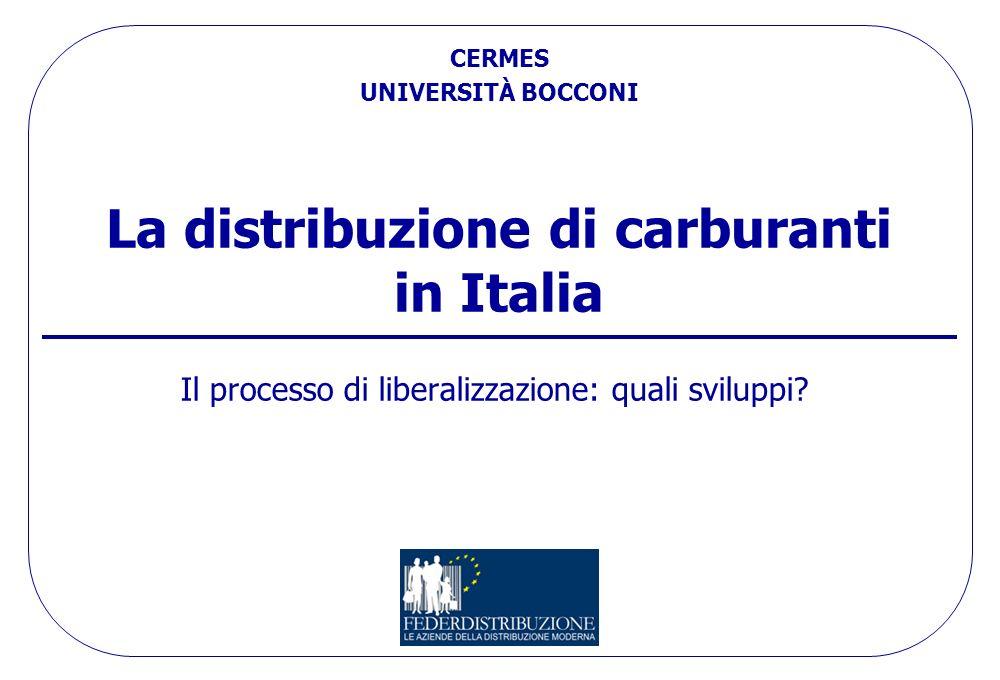 La distribuzione di carburanti in Italia