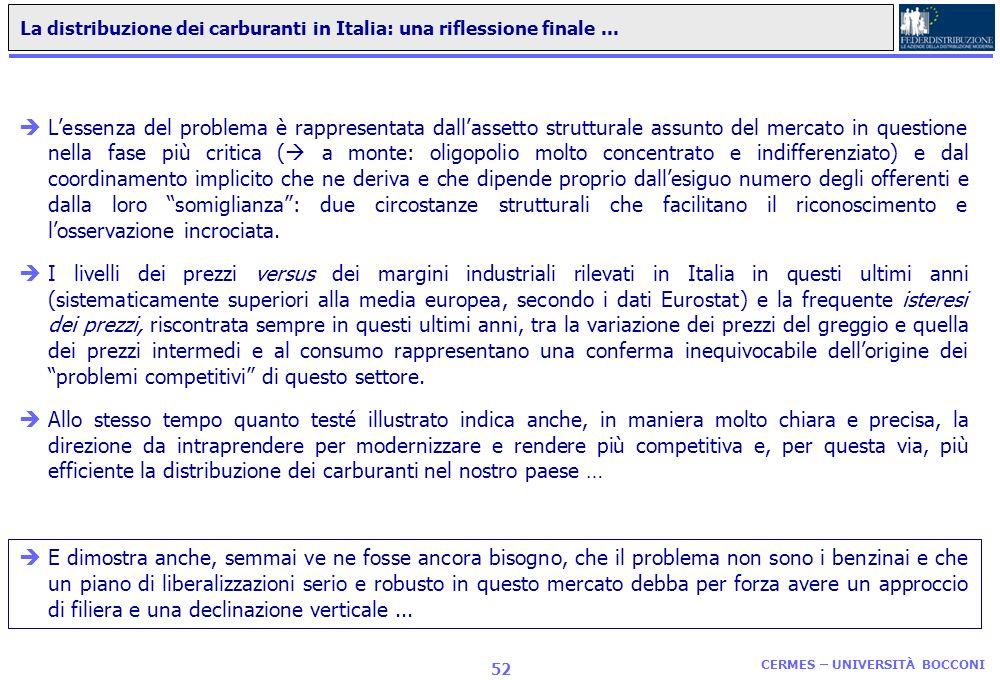 La distribuzione dei carburanti in Italia: una riflessione finale ...