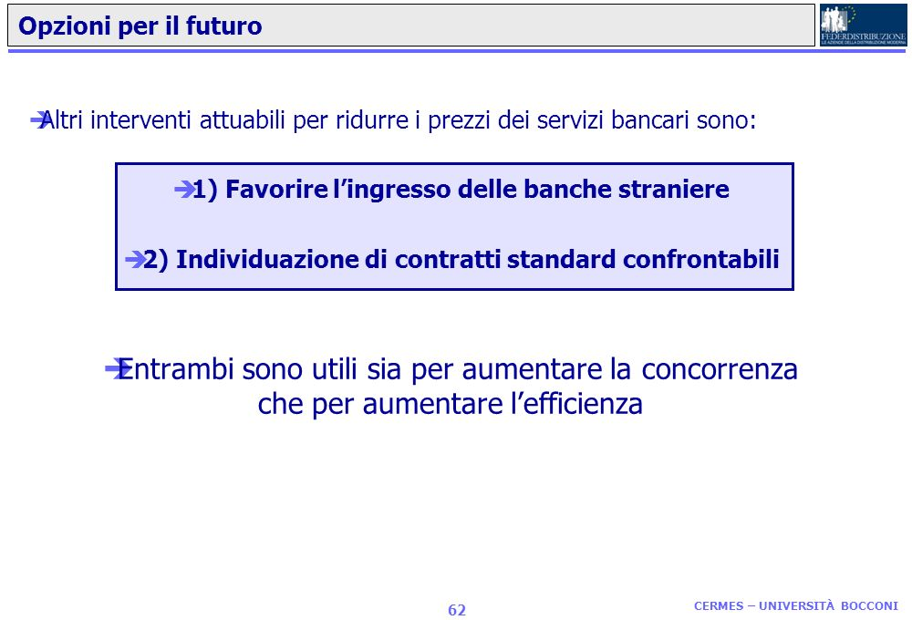 2) Individuazione di contratti standard confrontabili