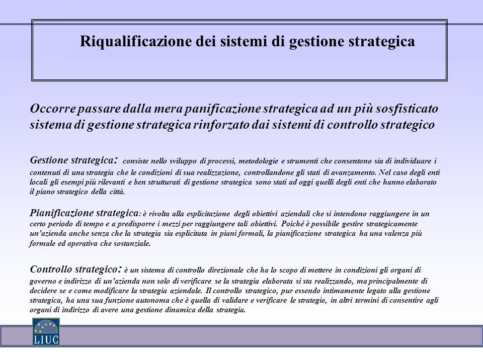 Riqualificazione dei sistemi di gestione strategica