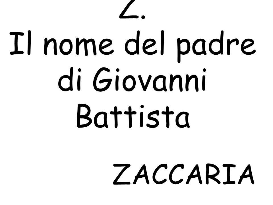 Z. Il nome del padre di Giovanni Battista