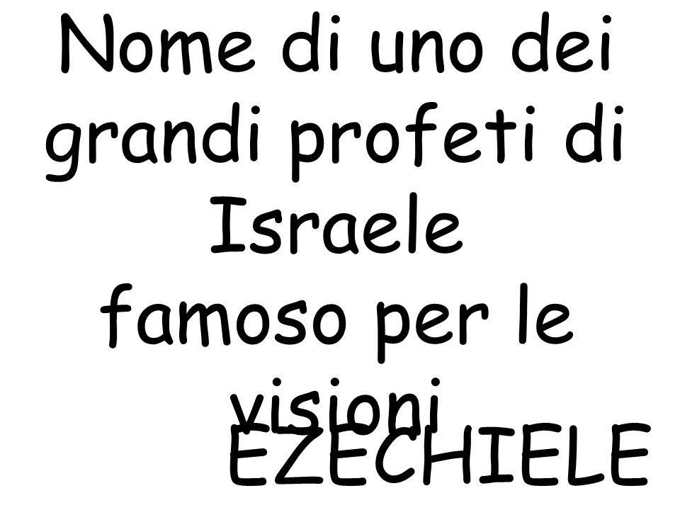 E. Nome di uno dei grandi profeti di Israele famoso per le visioni