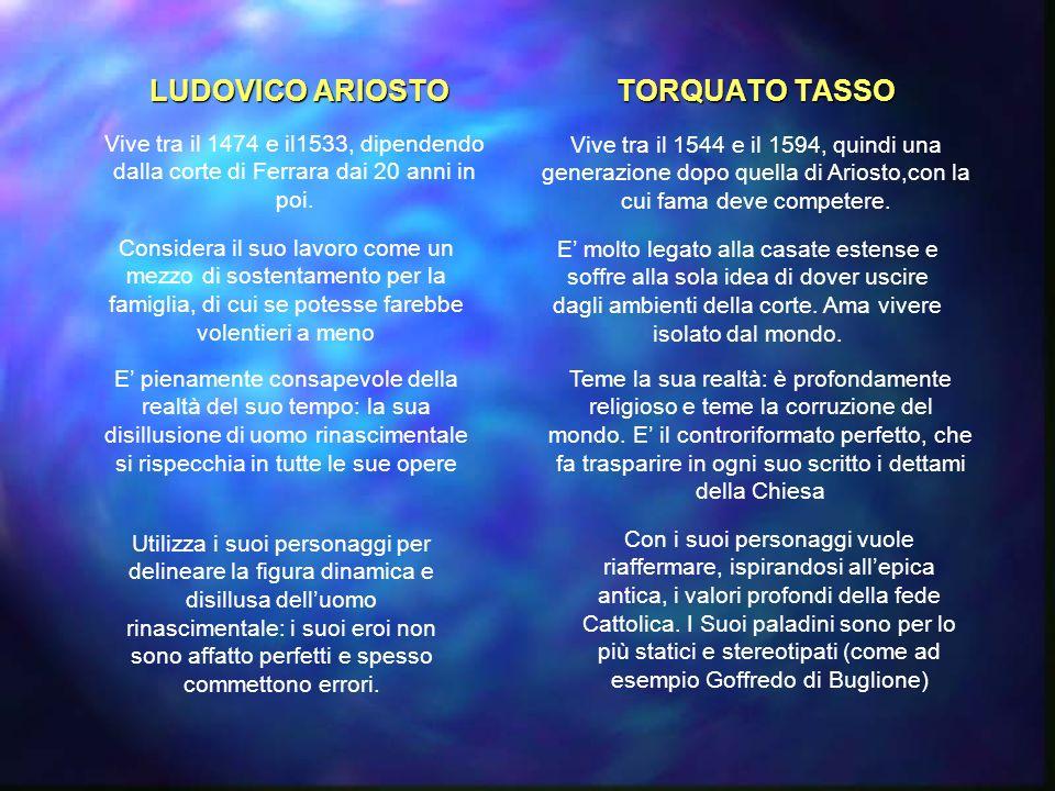 LUDOVICO ARIOSTO TORQUATO TASSO