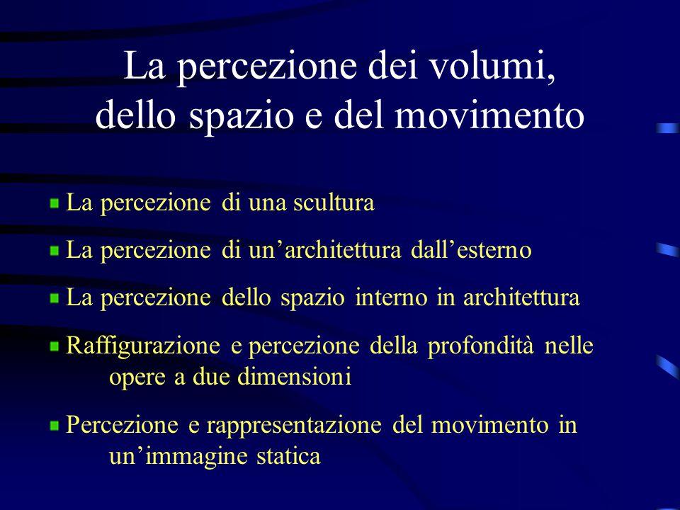 La percezione dei volumi, dello spazio e del movimento