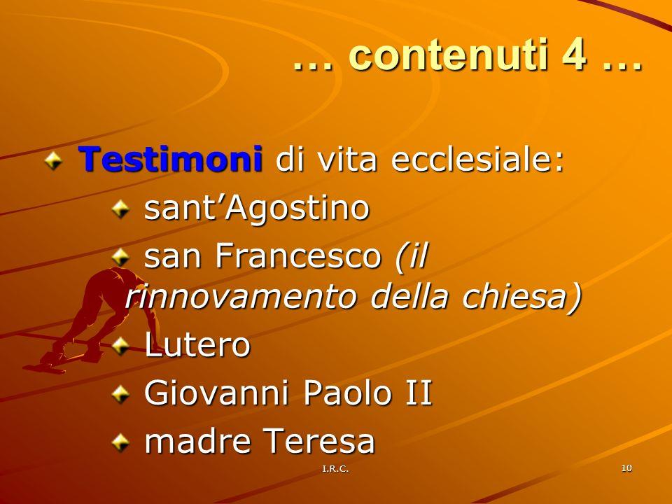 … contenuti 4 … Testimoni di vita ecclesiale: sant'Agostino