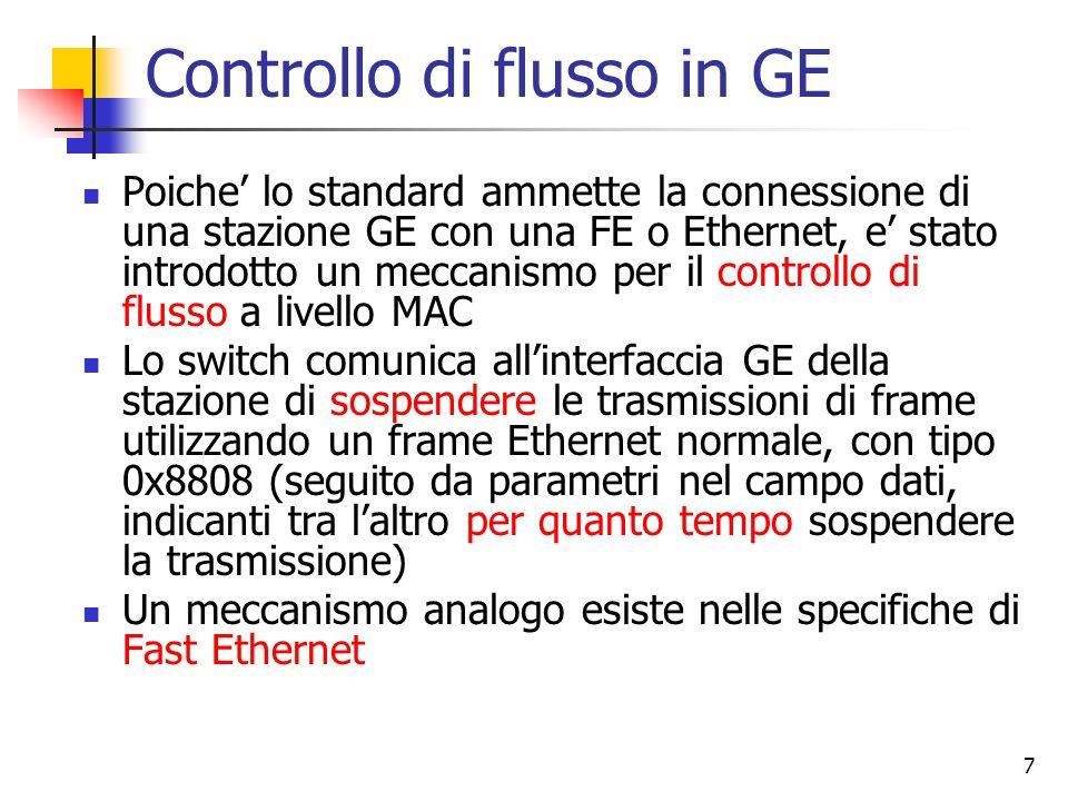 Controllo di flusso in GE