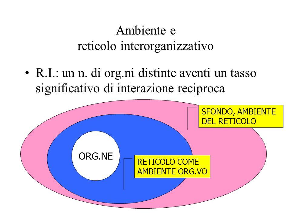 Ambiente e reticolo interorganizzativo