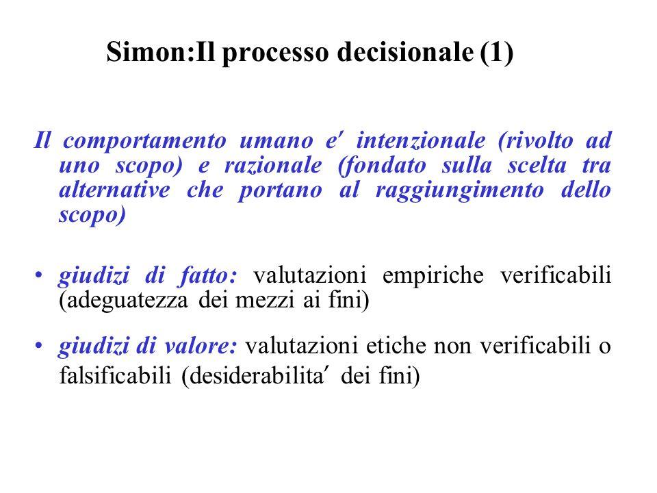 Simon:Il processo decisionale (1)
