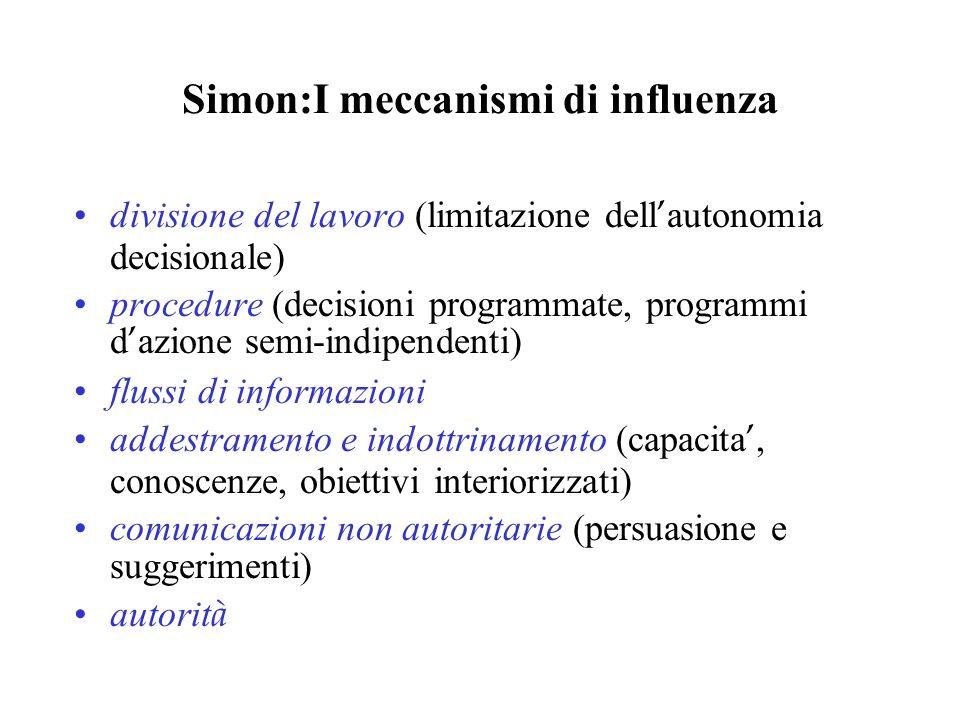 Simon:I meccanismi di influenza