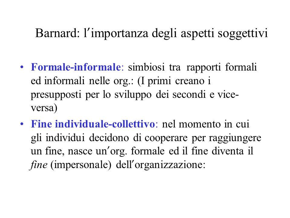 Barnard: l'importanza degli aspetti soggettivi