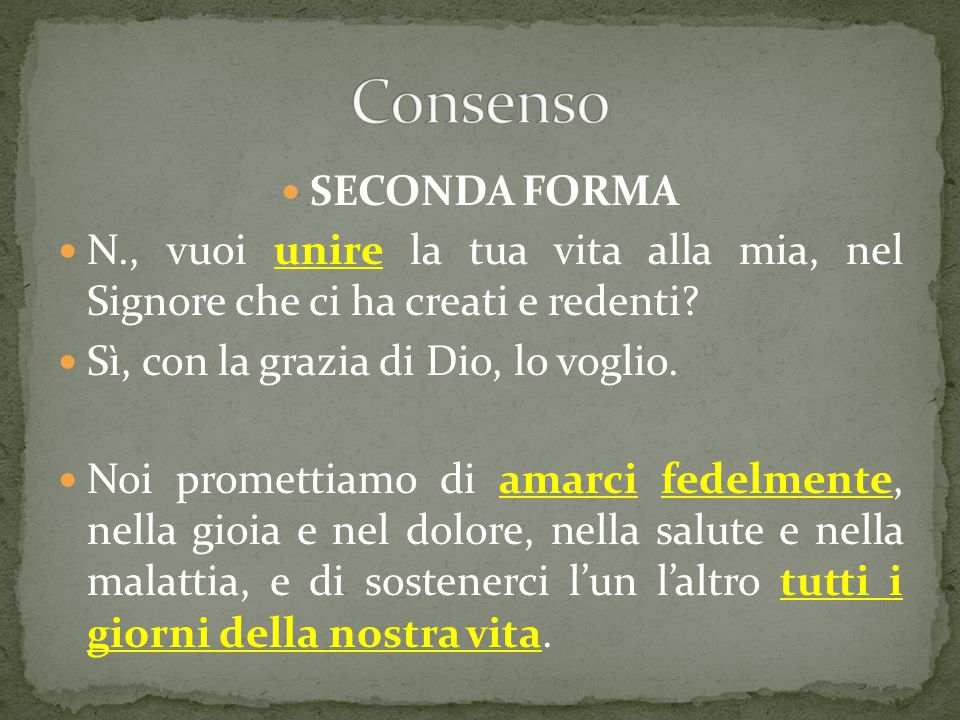 Consenso SECONDA FORMA