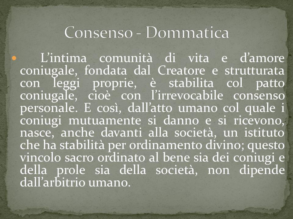 Consenso - Dommatica