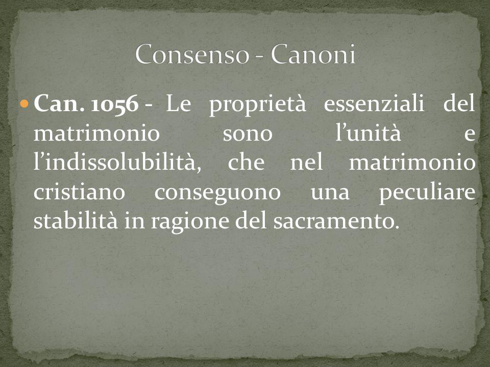 Consenso - Canoni
