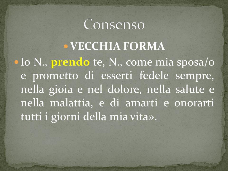 Consenso VECCHIA FORMA