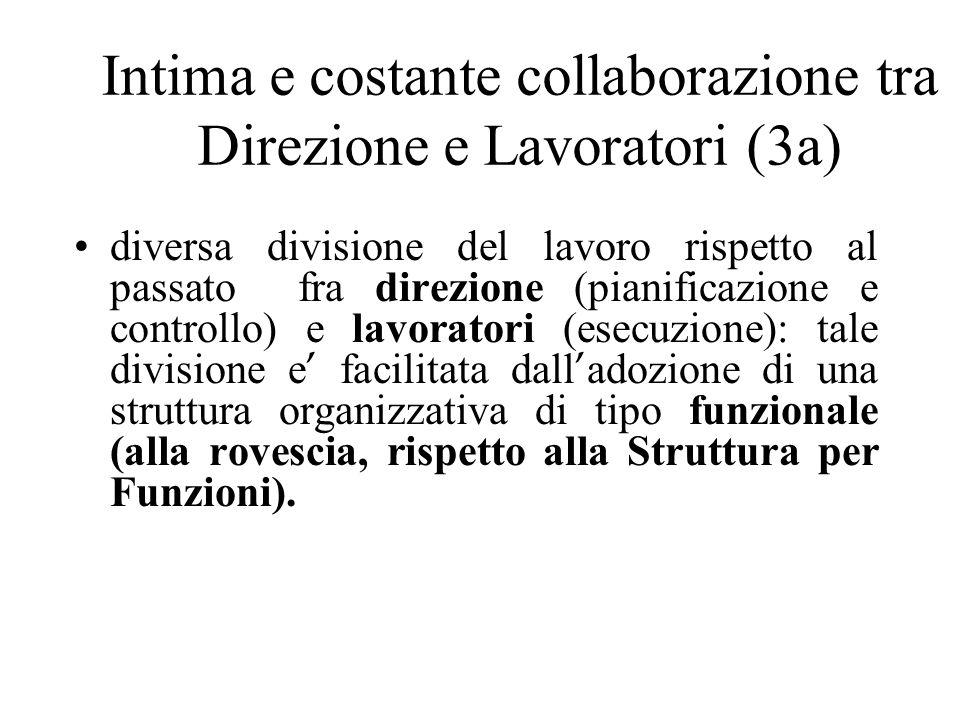 Intima e costante collaborazione tra Direzione e Lavoratori (3a)