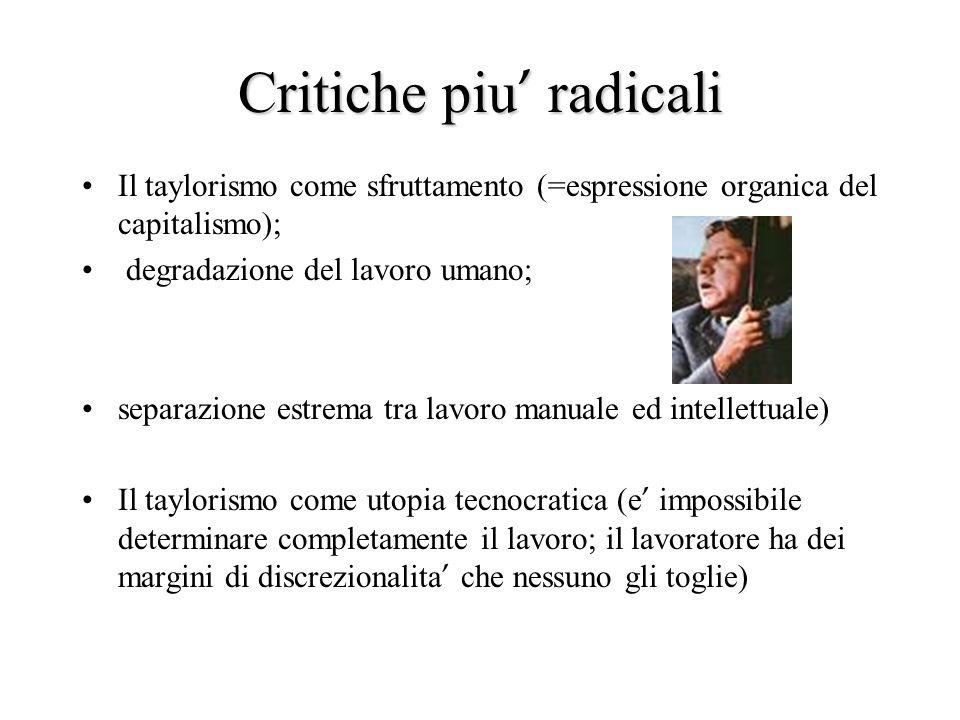 Critiche piu' radicali
