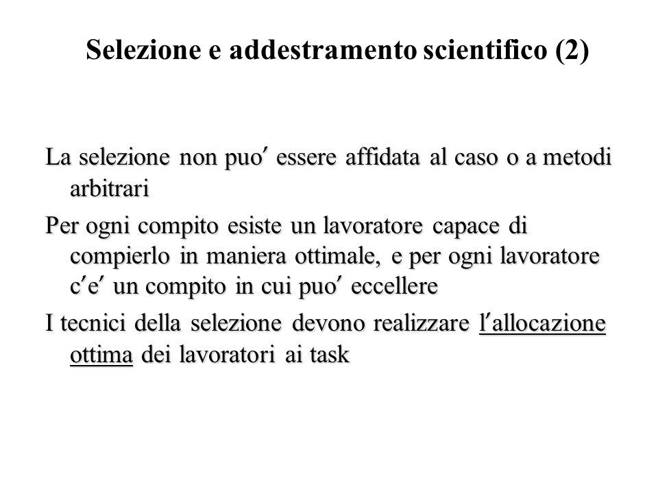Selezione e addestramento scientifico (2)