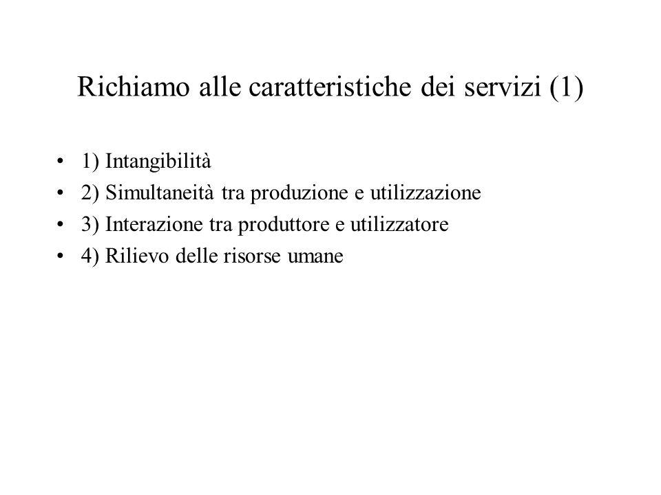 Richiamo alle caratteristiche dei servizi (1)