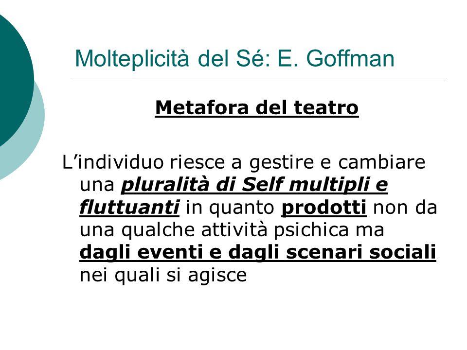 Molteplicità del Sé: E. Goffman
