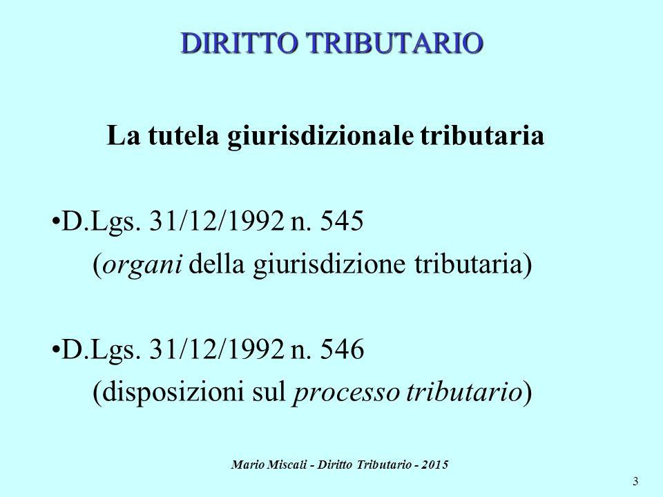 La tutela giurisdizionale tributaria