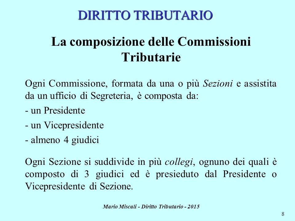 La composizione delle Commissioni Tributarie