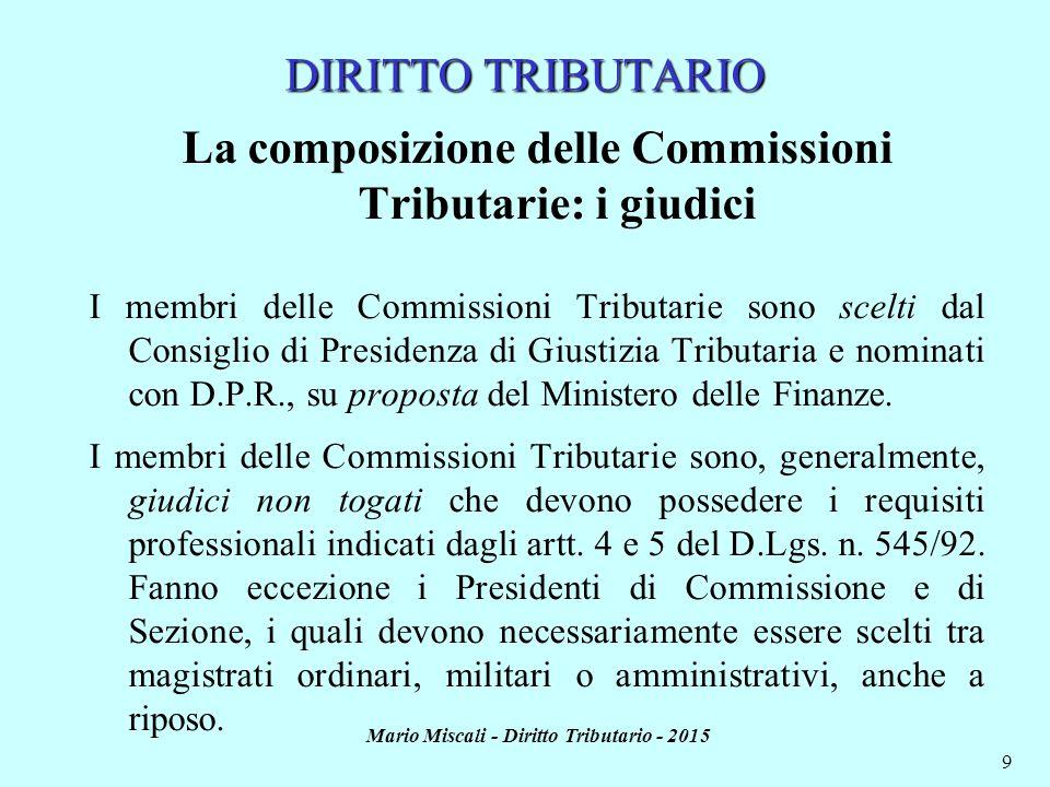 La composizione delle Commissioni Tributarie: i giudici