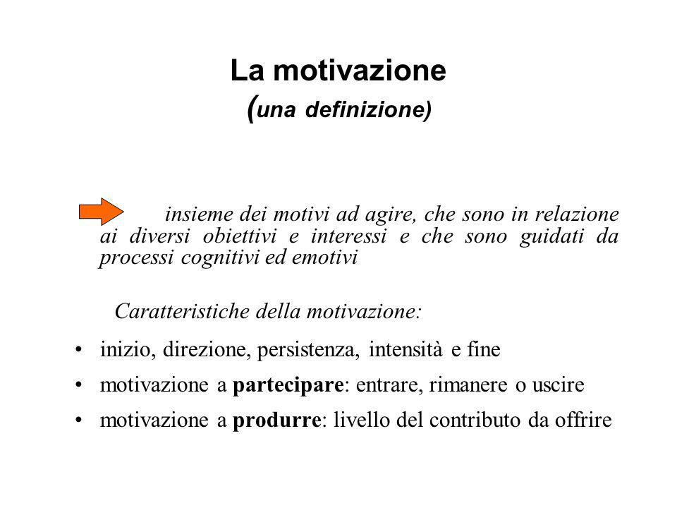 La motivazione (una definizione)